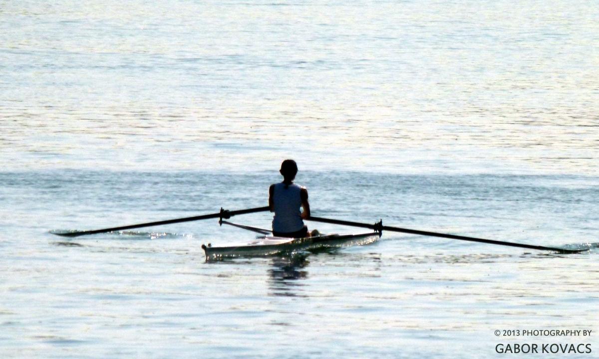 rowing on the Seine © 2013 GABOR KOVACS