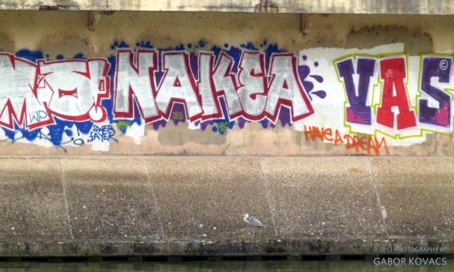 graffiti (with heron)