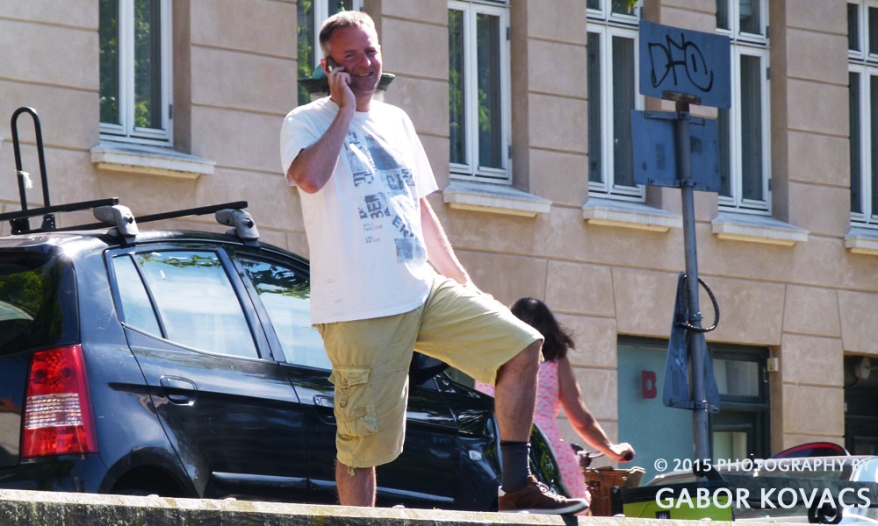 on the phone © 2015 PHOTOGRAPHY BY GABOR KOVACS