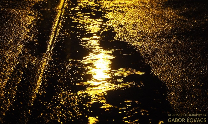 puddle by lamplight © 2015 PHOTOGRAPHY BY GABOR KOVACS