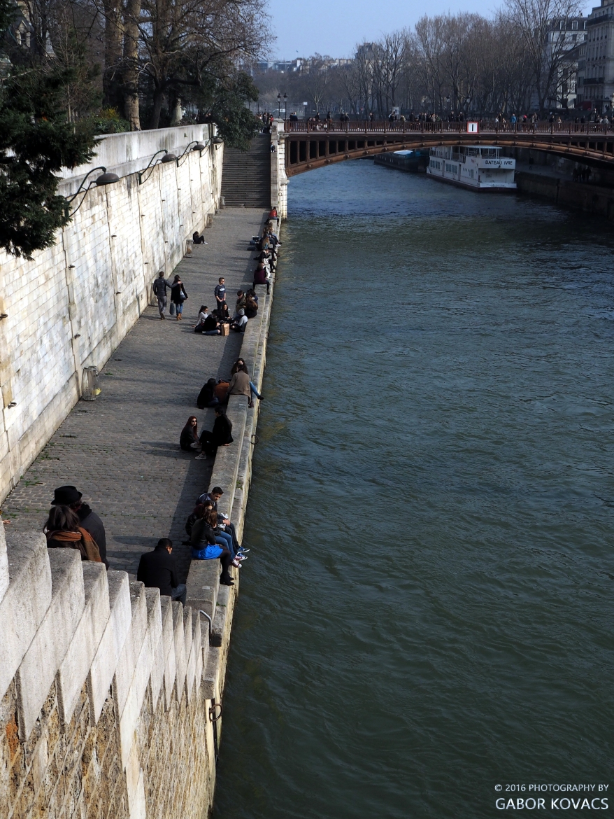 sitting by the Seine